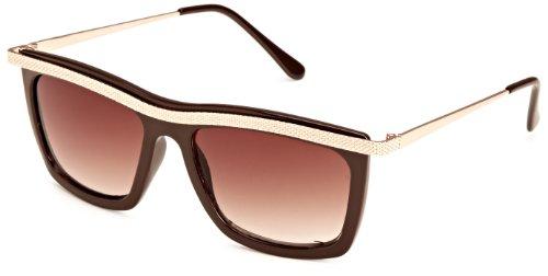 Quay Eyewear Australia Unisex Sonnenbrille 1454, Gr. One size (Herstellergröße: One Size), Braun