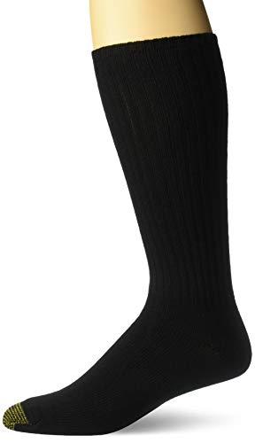 Gold Toe Herren Fluffies Baumwolle-Crew-Socken Gr. Einheitsgröße, Schwarz  -