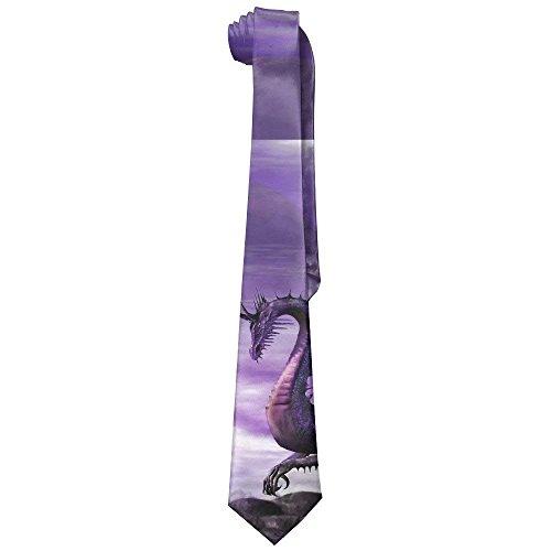 Men's Fantasy Dragon Purple Novelty Necktie Tie