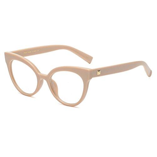 Hibote Vintage Männer Frauen Glasrahmen Retro Cat Eye Brillen Rahmen C5