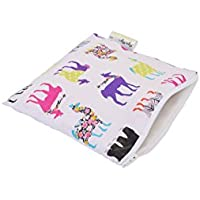 Itzy Ritzy Snack Happens Reusable Snack and Everything Bag, Llama Glama