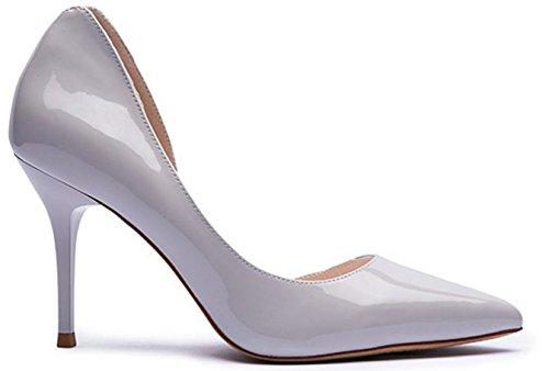 Automne Dame a fait mode de cuir verni talons chaussures/Chaussures à talons hauts sauvage C