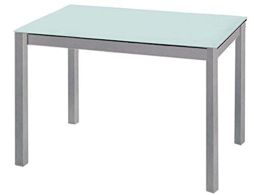 Aranaz Mesa de Cocina, Blanca/Verdosa, 110 X 70 X 75 cm