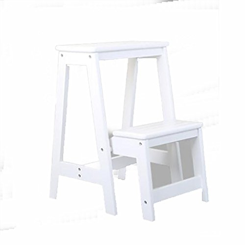 LIZITD Schritt Hocker, Massivholz europäischen Stil einfach schwarz, weiß und braun, Multi-Purpose...