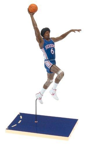 Julius Erving #6 Blue Jersey Philadelphia 76'ers McFarlane NBA Legends Hardwood Classics Six Inch Action Figure by Sports Memorabilia