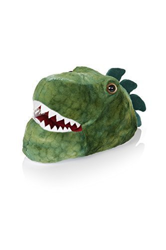 Nifty Kids cosy Novelty Animales 3d Zapatillas, color verde, talla 34-36 EU/XL