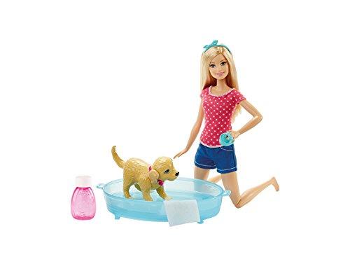 Mattel Barbie DGY83 Barbie Hundebad Spielset & Puppe
