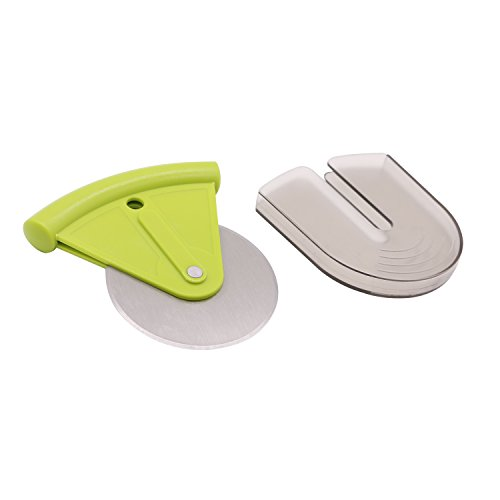 Igraver Roulette à pizza trancheuse de roue avec housse de protection Lame de 7,6 cm