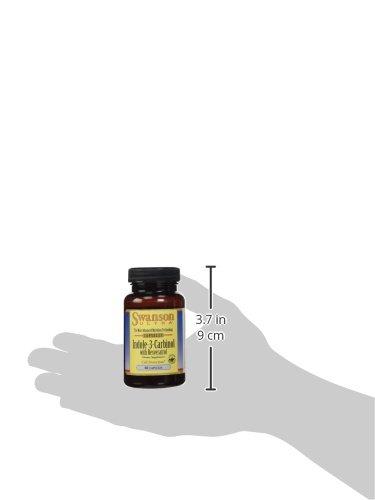Swanson Ultra - Indole-3-Carbinol 200mg + Resvératrol 5mg, 60 gélules - Complexe Spécial PROTECTION CELLULAIRE - I3C + Resvératol (Extrait 200:1 de Racine de Polygonum Cuspidatum Normalisé) - Complément Alimentaire Bio-Actif Antioxydant Puissant (I-3-C capsules - Supplement with Resveratrol from Standardised Root Extract)