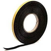 Esponja autoadhesiva de neopreno negro de 2 mm de grosor x 10 m de largo