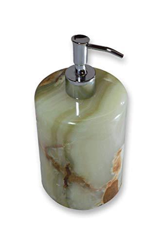 Grosser Seifenspender - Verde Dunas. Der Seifenspendel ist ein handgemachtes Unikat von Künstlern aus der Onyx Art Manufaktur, in Mexiko hergestellt. Ein Schmuckstück in jedem Haushalt