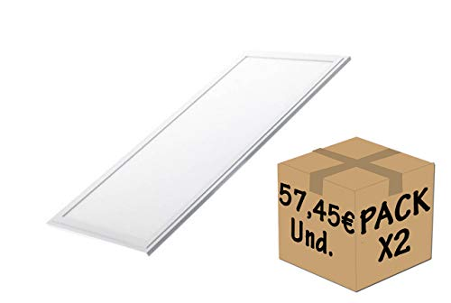 FactorLED Pack 2x Panel LED 120x60 cm 72W