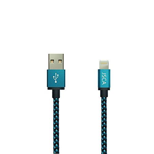 IPhone Câble 1m / 3.3ft JSCA Nylon Braided Lightning Câble / iPhone Câble pour iPhone 6 / 6s / 6 plus / 6s plus / 5 / 5s / 5c / SE / 7/7 plus - 1 m (3.3ft) - BLEU