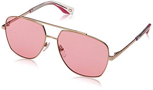 Marc Jacobs MARC 271/S EYR Gold / Pink MARC 271/S Square Pilot Sunglasses Lens Category 1 Size 58mm