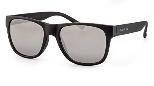 719b9cce54ab7d Route 66 Eckige Herren Sonnenbrille Modische Sonnenbrille im Wayfarer Style  mit verspiegelten Gläsern F2503978