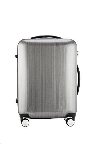 Aszhdfihas-travel Kofferwagen Männer und Frauen Business Boarding Box Silber Universal Rollen Box PC Material Single Pole Koffer 20 Zoll. Leicht -