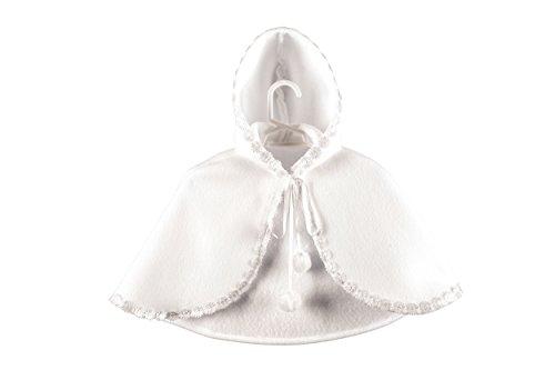 MGT-Shop Baby Mädchen Taufmantel Taufbolero Taufjacke Wintertaufe Taufbekleidung weiß (74, weiß)