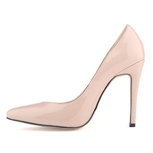 Chaussures a talons hauts et minces Abricot 39 - TOOGOO(R)chaussures a talons hauts en PU pointues pour les femmes pompes escarpins Abricot 39