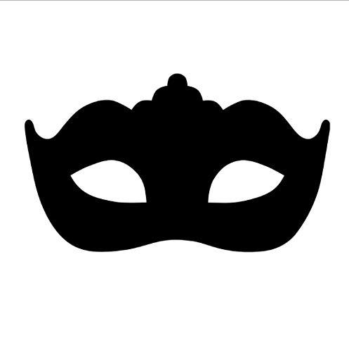 TOYP Moderne Maskerade Maske Wandaufkleber Kopfteil Dekorative Schwarz Vinyl Selbstklebende Kunst Schlafzimmer Wandtattoo 95x59 cm (Maskerade-maske Verkauf Für)