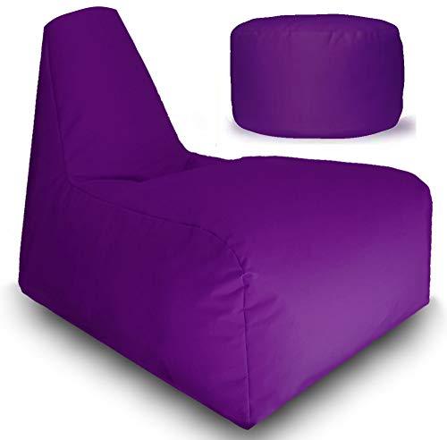Sitzsack Gamer mit Füllung Sitzbag Sessel In & Outdoor Sitzkissen Sport Racing Gaming Lounge Stuhl...