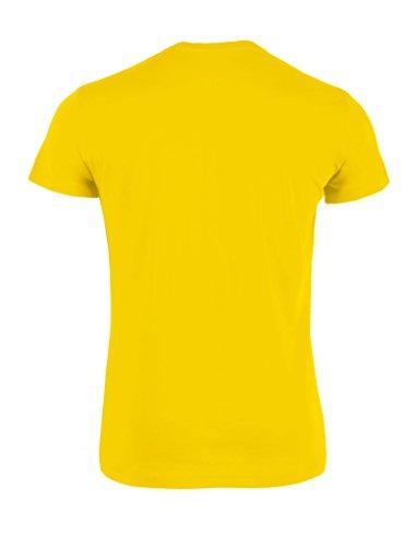 Everbasics Herren T-Shirt Turin Rundhals - Funktionsshirt für tagelanges Tragen ohne Waschen - in vielen Farben erhältlich! Gelb
