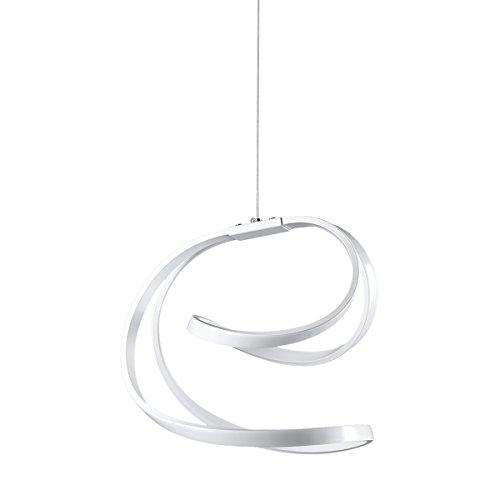 Onli intrigo lampada a sospensione led dal design moderno integrata, 18 w, bianco, 30 x 125 cm