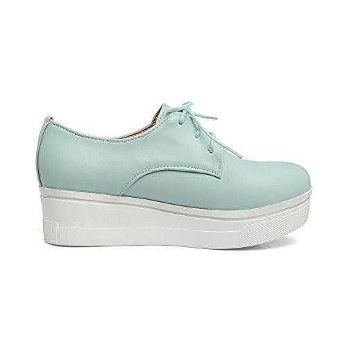 A & N - Chaussures Plateforme Bleues Femme