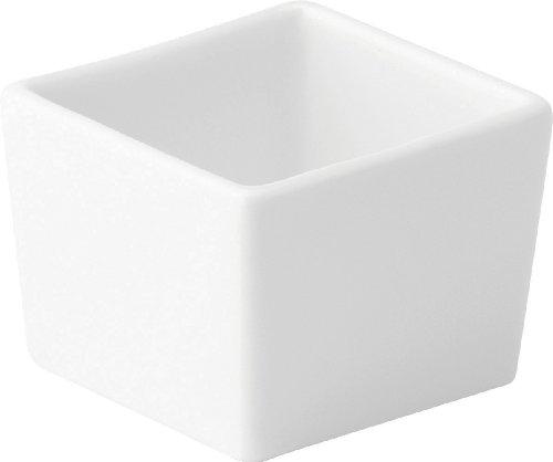 Utopia Z03097 en porcelaine fine Plat Carré profond, 6,3 cm, 6.5 cm, Anton Noir (Lot de 6)