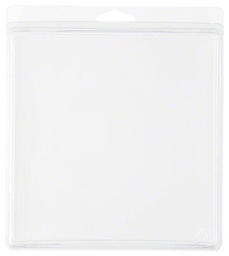 Klar Kunststoff Clamshell Paket/Container, 16,7cm H x 16,2cm W x 3,2cm D, plastik, 50-Pack