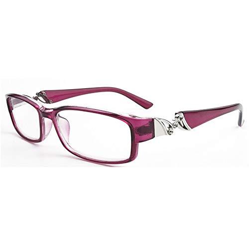 KOMNY Blu-ray Lesebrille Mode Diamond Presbyopic Brille Full Frame Lesebrille Großhandel Männer und Frauen HD Anti-Fatigue-Brille, A + 100
