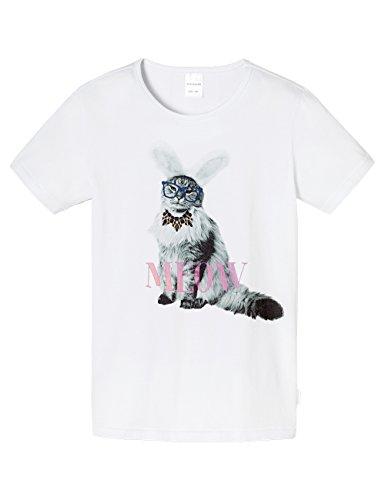 Schiesser Mädchen Schlafanzugoberteil Shirt 1/2 Mix & Relax, Gr. 176, Weiß (weiss 100)