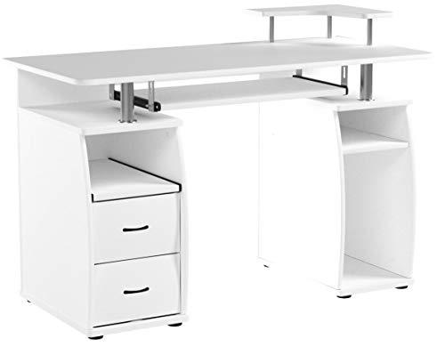 HOMCOM Computertisch Eckschreibtisch Winkelschreibtisch Schreibtisch Bürotisch PC Tisch, Verschiedene Modelle (Modell 4/Weiß)