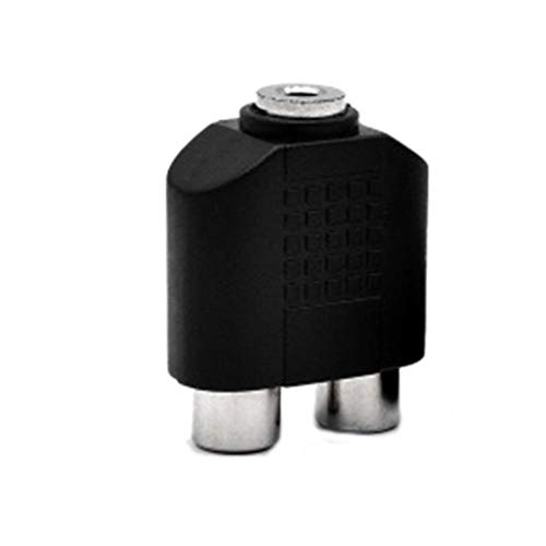 Pegcdu Y-Typ 3,5 mm Buchse Stereo Audio Jack 2 Dual RCA-Buchse Splitter Adapter VCD DVD Converter-Anschluss Mp3 Splitter Converter