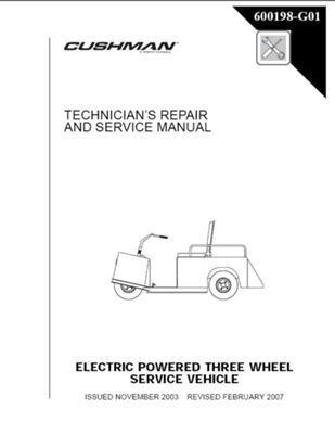 EZGO 600198G01 2004-2008 Reparatur- und Servicehandbuch für elektrische 3 Räder Cushman MinMiser 835