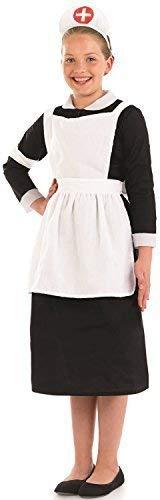 Fancy Me Mädchen Kriegszeit Krankenschwester Historisch Florence Nightingale Welttag des Buches-Tage-Woche Schule Play Kostüm Kleid Outfit 4-12 Jahre - 10-12 Years
