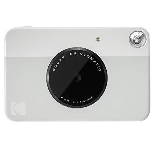 Kodak PRINTOMATIC Digitale Sofortbildkamera, Vollfarbdrucke auf ZINK 2x3-Fotopapier mit Sticky-Back-Funktion - Drucken Sie Memories sofort (Grau)