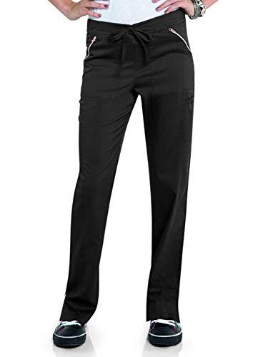 Groß Flare Scrubs Hose (Landau Women's Blush Flare Leg Drawstring Scrub Pant-Hype)