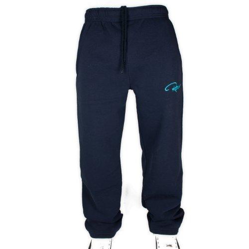 REDRUM Plain Trainingshose Jogginghose Sweatpants Fitness Sport Streetwear (XXS, Navy) -