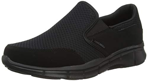 Skechers Equalizer Persistent, Zapatillas para Hombre, Negro (Black), 43 EU