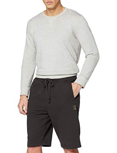 JP 1880 Herren große Größen bis 8XL, Bermuda-Shorts, Kurze Jogginghose mit elastischem Bund, Sweat-Pants mit 2 Taschen schwarz 4XL 702636 10-4XL