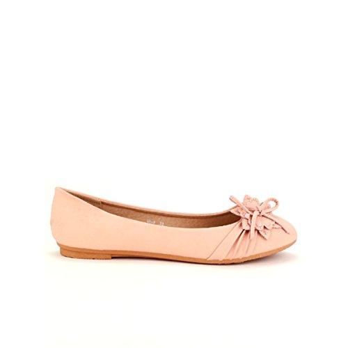 Cendriyon Ballerine Rose FLORALYS Chaussures Femme Rose