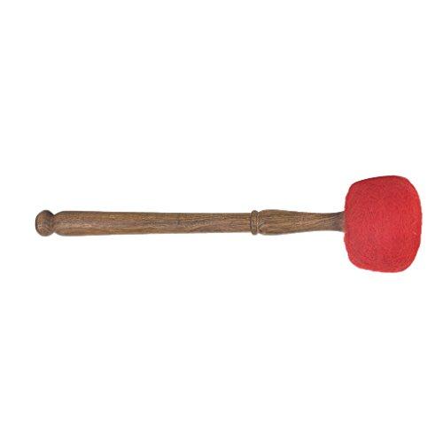 MagiDeal 2 Stück Marsch Schlägel für große Trommel - Klangschalen Schlägel Länge -29cm - Rot