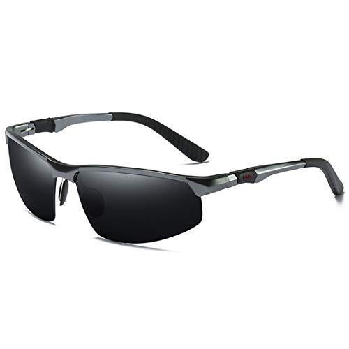 Uzanesx Polarisierte Sonnenbrillen tragen eine Mountainbike-Brille mit Sonnenbrille (Color : Black)