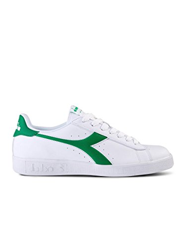 Diadora Game P, Sneaker a Collo Basso Unisex – Adulto C1931 BIANCO/VERDE