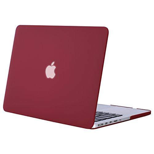 MOSISO Hülle Kompatibel MacBook Pro 15 Retina - Ultradünne Plastik Hartschale Hülle Kompatibel MacBook Pro 15 Zoll Modell A1398 mit Retina Display (2015 - Ende 2012 Freisetzung), Weinrot - 15 Case Pro Das Retina Macbook Klar