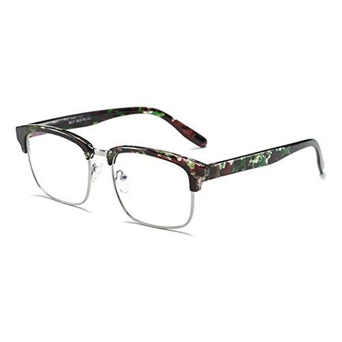 HPTAX-VB Spiegeln Quadratischer Rahmen weiches Material Brillengläser Keine starken Brillen