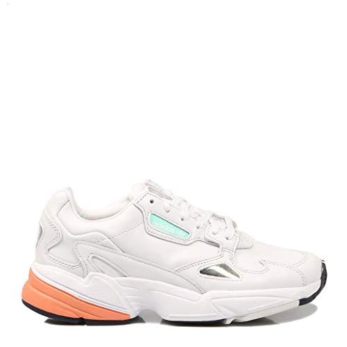 hot sale online 20b4d 0f043 adidas Falcon W, Zapatillas de Deporte para Mujer, Blanco Balcri Narsen 000,
