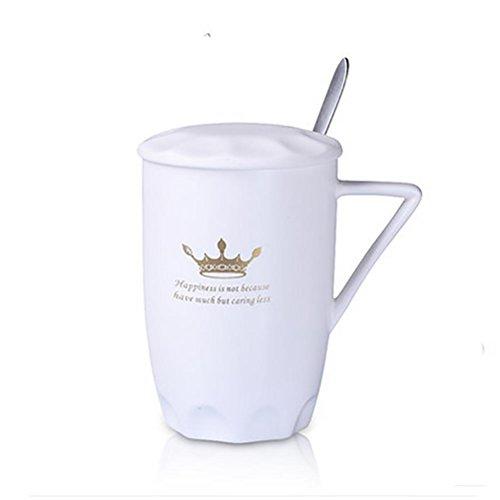 Ruirui Tazze in ceramica ufficio gaimake tazze, caffè latte, tazze di coppia , white single