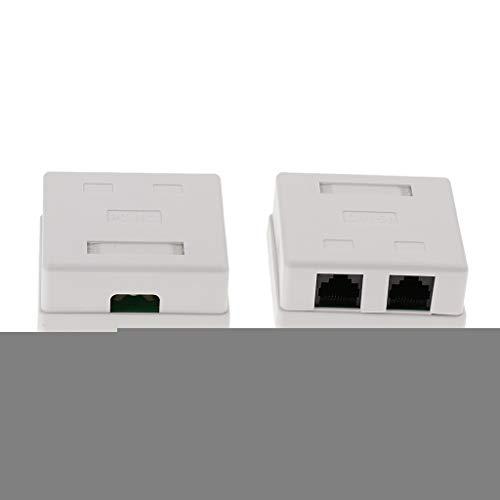 Shiwaki 2pc Cat5e Double Port Oberflächenmontage Outlet Box RJ45 Frontplatte Backbox - Cat5e Surface Jack