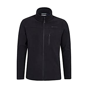 31zDghQUFKL. SS300  - Mountain Warehouse Buchanan Mens Fleece - Warm Jacket, Quick Drying Sweater, Breathable Pullover, Chest Pocket -Ideal…